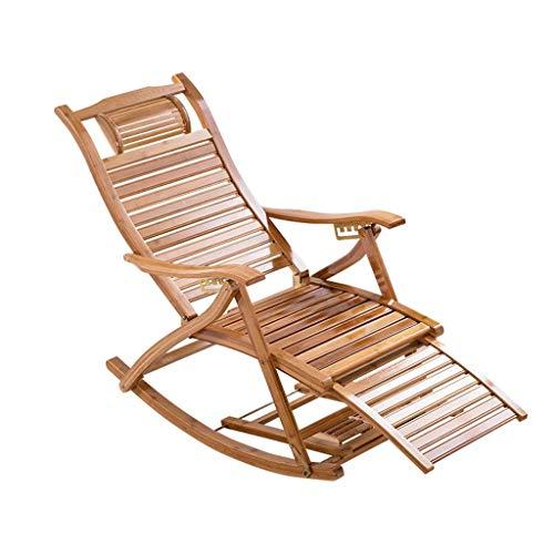 Cxmm Klappbarer Schaukelstuhl Liegestuhl Bambusstuhl Schlafzimmer Wohnzimmer Balkon Sonnenliege Patio Gartenstuhl Schwangere Liege (Farbe: A)