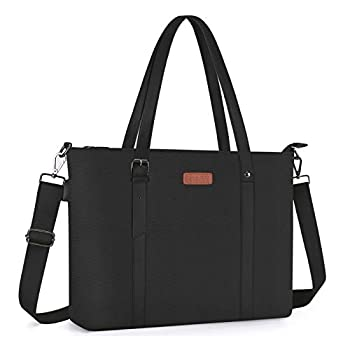 MOSISO USB Port Laptop Tote Bag  Up to 17.3 inch  Large Woman Organizer Work Business Office Travel Shopping Teacher Shoulder Bag Portable Carrying Handbag Compatible with MacBook & Notebook Black