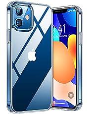 TORRAS Diamond Series für iPhone 12/12 Pro Hülle (Extrem Transparent) Vergilbungsfrei (Unzerstörbare Sturzfestigkeit) Exzellente Kratzfestigkeit Ultra Dünne Handyhülle iPhone 12/12 Pro - Makellos klar