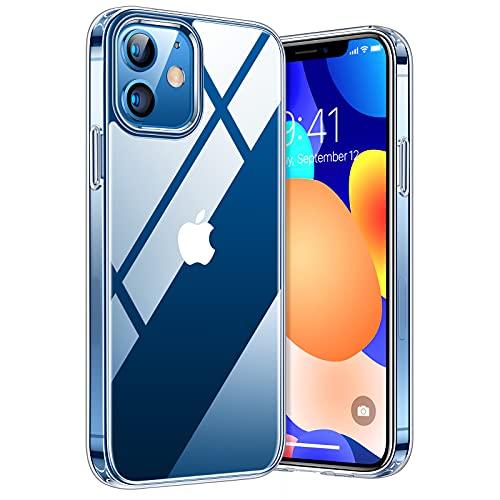TORRAS Diamond Series für iPhone 12/12 Pro Hülle Vergilbungsfrei (Extrem Transparent) Ultra Dünn (Superstarke Stoßfestigkeit) Schutzhülle Kratzfest - Ultra Durchsichtig