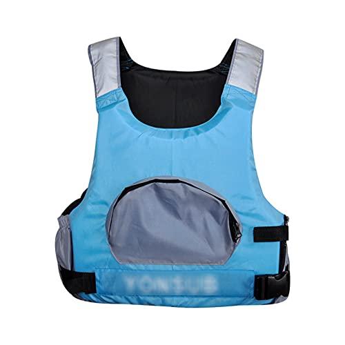 Jackets de la Vida Adulta Kayak Navegación de la Vida Chalecos de la Pesca Chalecos de Pesca Bolsillos Grandes Doble Hombro Reflective Strip Chalecos Salvavidas Blue-One Size