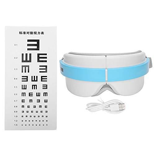 Homeriy Masajeador de Ojos Terapia con Calefacción Masajeador de Ojos Eléctrico Inteligente Compresa de Calor Y Equipo de Alivio Del Estrés de Vibración para Aliviar La Tensión Ocular