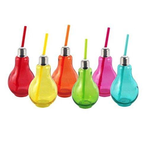 Art Deco Home - Vaso Bombilla x6 Colores 14 cm - 13722SG