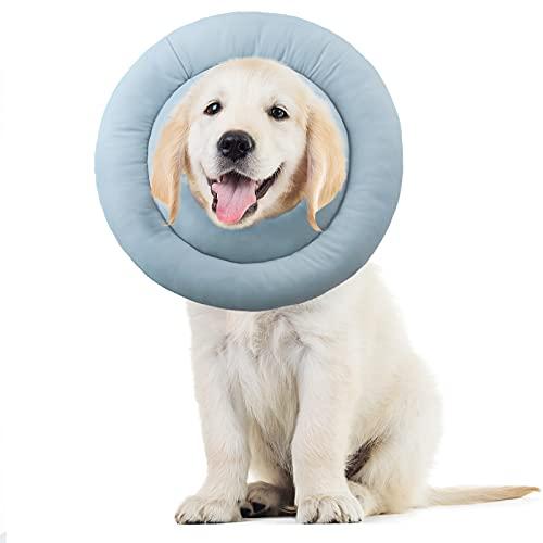 Supet Collarín protector para perros y gatos, cuello para perros suave, cuello de protección, ajustable, para mascotas, gatos, perros, cachorros, gatitos, después de la cirugía y lesiones.