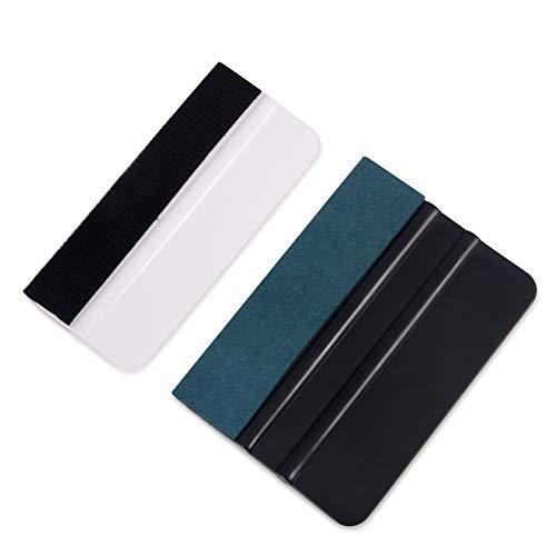 Winjun Autofolie Folienrakel Rakel Set Enthält Wilderkante Filzkante für Verklebung von Fensterfolie Wandtattoo Tönungsfolie Folierungs Werkzeug Vinyl Wrap