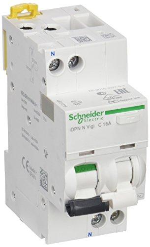 Schneider Electric A9D31616 iDPN N Vigi Interruptor Diferencial, 1P+N, 16A, 30mA, Clase...