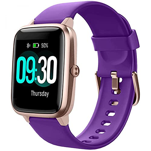 HYK Smart watch uomini e donne, IP68 nuoto impermeabile smart watch fitness tracker cardiofrequenzimetro per Android ios (B)