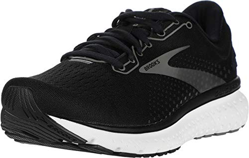 Brooks Womens Glycerin 18 Running Shoe - Black/Pewter/White - B - 9.5