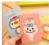 Nicedier 1pc Mini Rayado Diario Lindo patrón Cuaderno Cuaderno portátil para Notas, Listas, Recetas y más Divertidos- Útiles Escolares Color al Azar