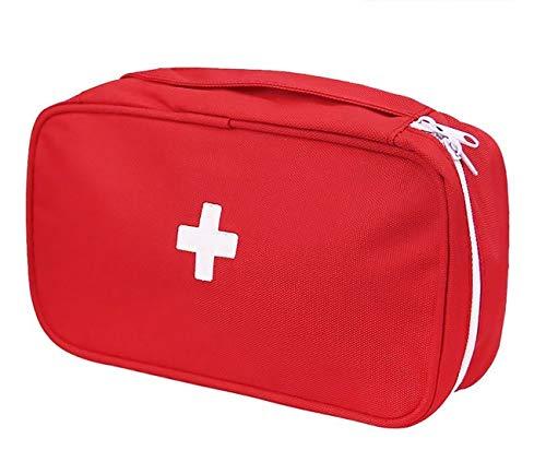 Bolsa de Primeros Auxilios, Botiquín de Primeros Auxilios, Estuche Médico Portátil Emergencia para Excursión al Aire Libre, Campamento, Coche,Viaje, Supervivencia, Bolsa de Rescate Roja