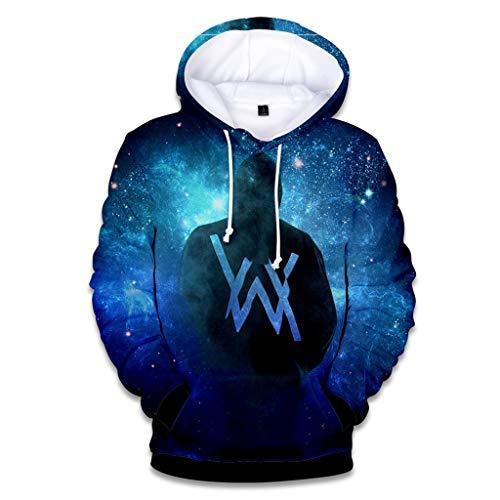 LXHcool Hoodiepullover Paar Al_an Walke_r, 3D-Sweatshirt drucken beiläufige Straße Langarm Unisex Fans Rave-Verein-T-Shirt (Color : B, Size : M)