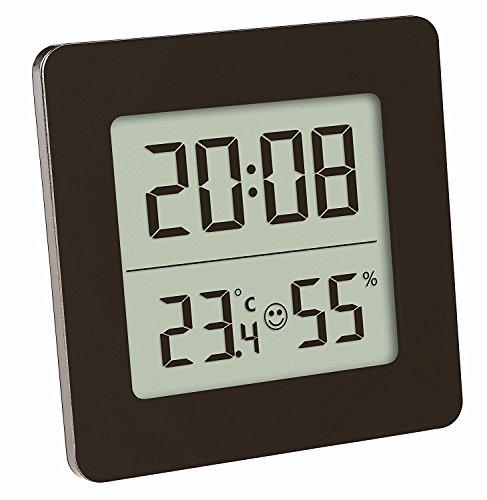 TFA Dostmann 30.5038 Digital Termómetro Higrómetro de clima de control, negro con batería