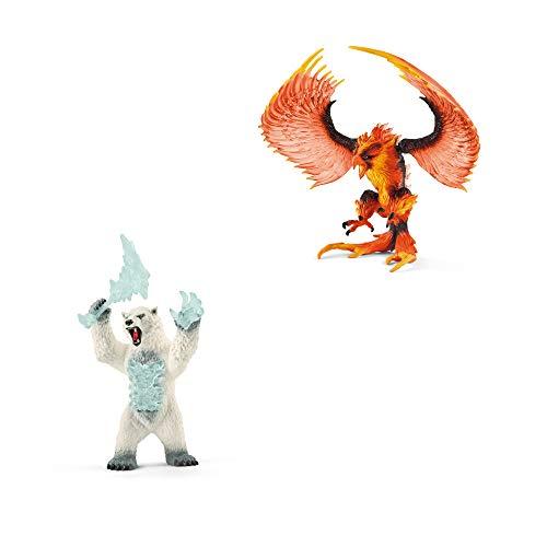 Schleich Eldrador Neuheiten 2020 - Spiel-Figuren Set Blizzard Bär 42510 + Feuer-Adler 42511 - Fantasy Sammelfiguren