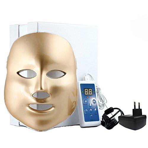 Crisnails® Fotón Tratamiento Terapia de Luz para Cuidado Facial de la Máscara 7 colores LED Máscara Rejuvenecimiento de la Piel (Modelo 1)