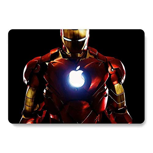 Hard Case for MacBook Pro 13 inch with Retina Display Model A1425 / A1502 - AQYLQ Smooth Touch Matte Plastic Rubber Coated Protective Shell Cover - Iron Man