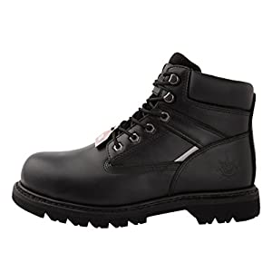 GW Men's 1606ST Black Steel Toe Work Boots 8.5 M US