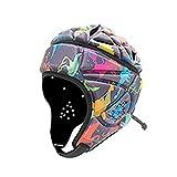 Moosunsa Protection de la tête de rugby, softshell Protective Headgear Protection Gear, protection de la tête de rugby, rembourrage rembourré, réduit les chocs et les collisions.