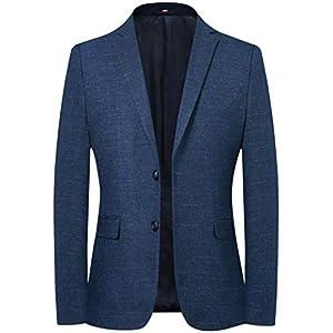 FHLHY テーラードジャケット メンズ 細身 長袖 スーツ テーラードジャケット スーツジャケット カジュアル ビジネス おしゃれ おおきいサイズ