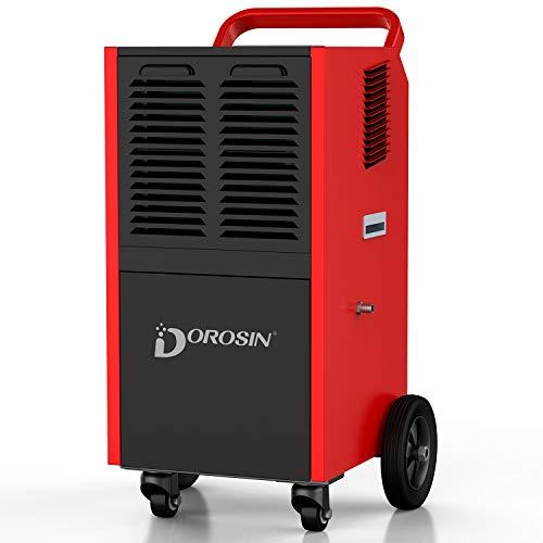 Why Choose DOROSIN Commercial Dehumidifier, 190 Pint CD090 Portable Industrial Dehumidifier for Base...