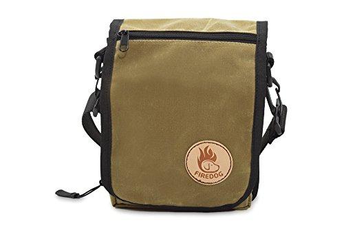 Firedog Waxed Cotton Mini Umhängetasche Tasche khaki hell 16 x 19 x 10 cm