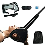 Hammock for Neck Pain Relief, Portable Head Hammock for Neck Head Pain, Adjustable Neck Traction with Ear Holes, Neck Stretcher for Relaxation Physical Therapy