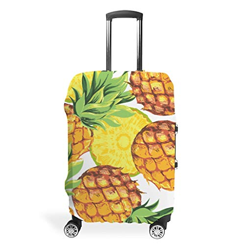 Zhcon Luggage Cover Fashion Spandex Luggage Cover Anti-Water Dustproof Baggage Protective Case Pineapple Fruit Printed White XL (76x101cm)