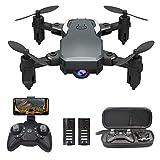 0BEST Mini Drone Caméra 1080P, Drone avex Télécommande WiFi, Deux Batteries...