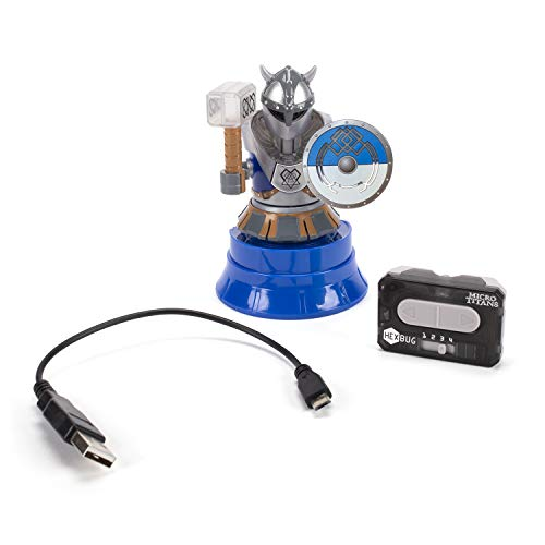 HEXBUG Micro Titans Viking Single, Toys for Kids, Remote Controlled Robot Battle (Blue)