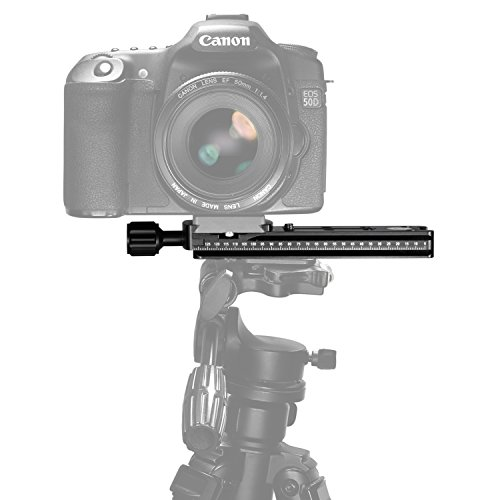 Neewer 140mm Professional Rail Nodal Slide Metal Quick Release Clamp for Camera with Arca Swiss Compatible