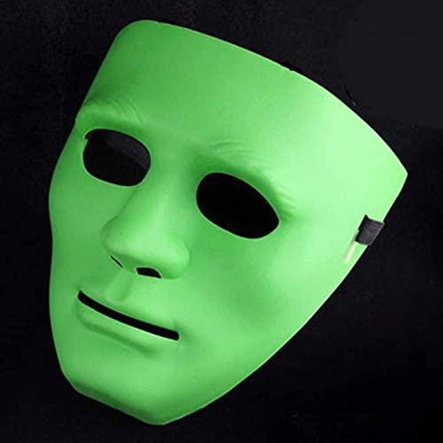 Whxl boy masculino máscara luminosa Hip-hop Street Step Dance Halloween Party Mask para los hombres plásticos
