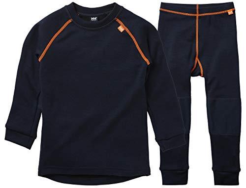 Helly Hansen HH LIFA Merino Baselayer Thermal Conjunto de Camisa y Pantalon, Unisex niños, Azul Marino, 4