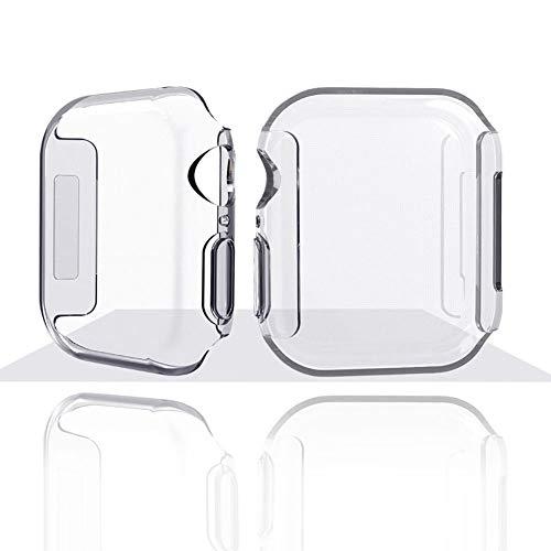 Ocamo - Carcasa de TPU para Apple Watch Series 4, Transparente, 40 mm