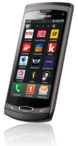 Samsung Wave II S8530 Smartphone (9,5 cm (3,7 Zoll) Display, Super Clear LCD Touchscreen, 5 Megapixel Kamera) ebony-gray