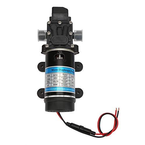 Zelfaanzuigende waterpomp, 12V/24V 120W 10L/m Membraanwaterpomp Hogedruk waterpomp Elektrische waterpomp(24V / 5A)