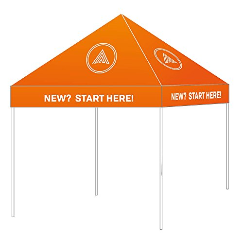 UNIQ SIGNS 10 x 10 Custom Graphics Printed Pop up Tent Canopy, Printed with Your Logo and Graphics for Trade Shows, Events, Exhibits.