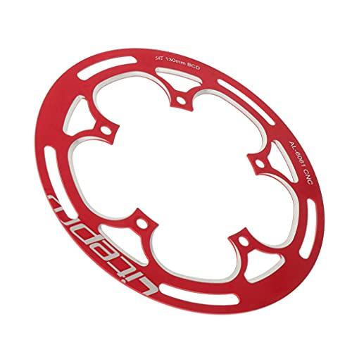 Sharplace Protector de Guardia de Ruedas de Cadena de 54tbike para BCD130mm CIRANKET - Rojo