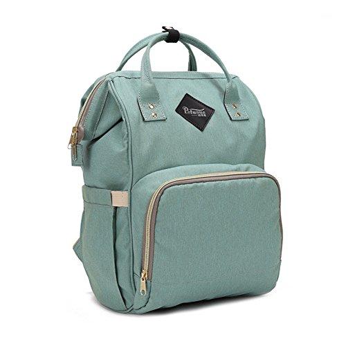 LOKEP Sac à langer multifonction, étanche, sac à dos de voyage pour les soins de bébé, grande capacité, élégant et durable, vert