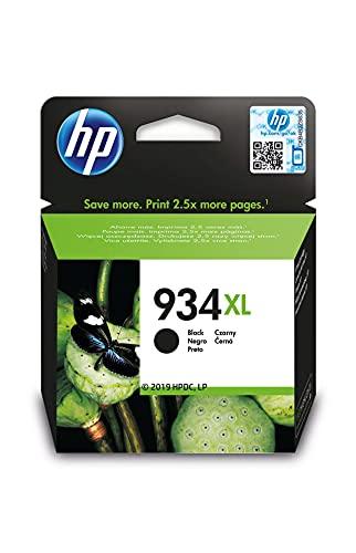 HP 934XL C2P23AE, Negro, Cartucho de Tinta de Alta Capacidad Original, compatible con impresoras de inyección de tinta HP OfficeJet 6820; HP OfficeJet Pro 6230, 6830