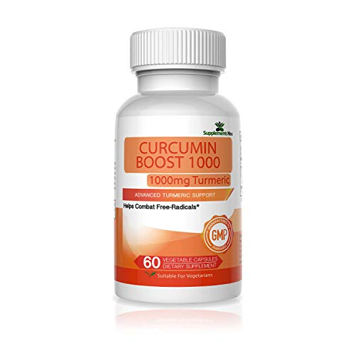Curcumin Boost 1000 Advanced Supplement – Supplements You – 60 Premium Geelwortel Capsules Assisteren de reductie van interne en externe oprispingen – 95% Curcuminoïden – Gemaakt in USA