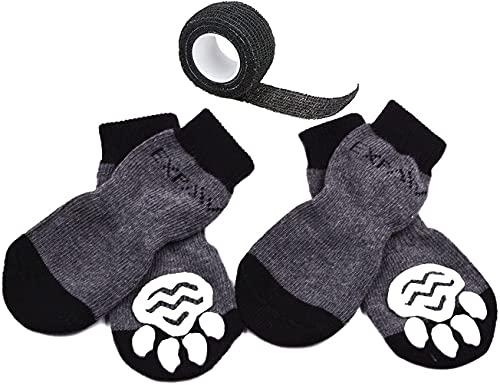 EXPAWLORER Dog Socks Traction Control Anti-Slip...
