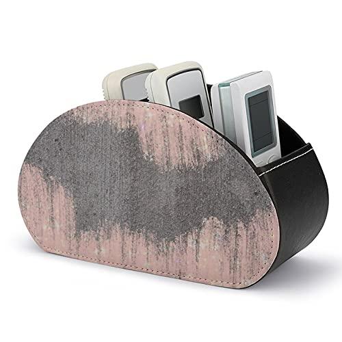 Gritz And Glamour - Caja de almacenamiento para mando a distancia, multifuncional con 5 compartimentos para mandos a distancia de TV, cepillo de maquillaje, papelería y gadgets