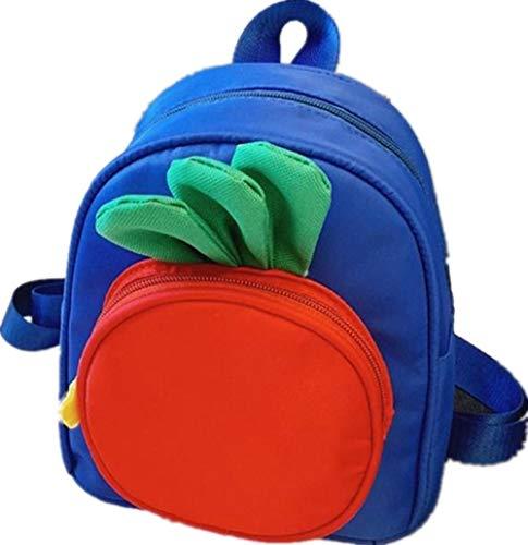 Süße Karotten Kinder Mini Rucksäcke Süße Cartoon Schulrucksäcke Kinder Schultaschen Baby Mädchen Jungen Rucksack B2-Blau
