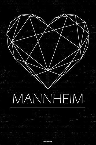 Mannheim Notizbuch: Mannheim Geometrisches Herz Stadt Journal DIN A5 liniert 120 Seiten Geschenk