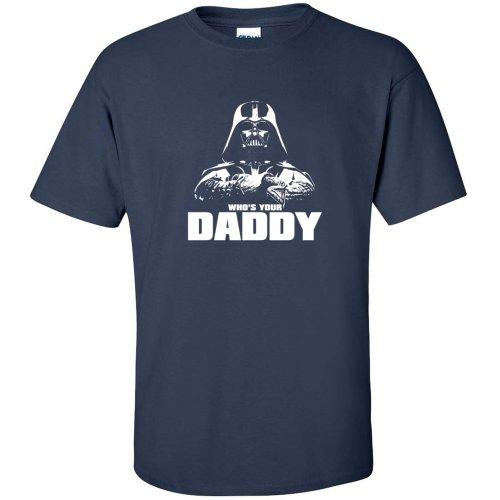 Camiseta para Hombre, diseño de Star Wars con Texto en inglés Whos Your Daddy Vader, Color Azul Marino, Talla 3XL