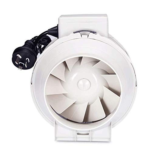 STRAW Conductos de ventilación del ventilador, ventilador de refuerzo del conducto redondo de 5 pulgadas, de escape del ventilador de ventilación Extractor de aire de ventilación del sistema de bajo r
