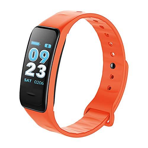 Smartband Fitness-Tracker Schlafmonitor Herzfrequenz Schrittzähler, Farbe:Orange