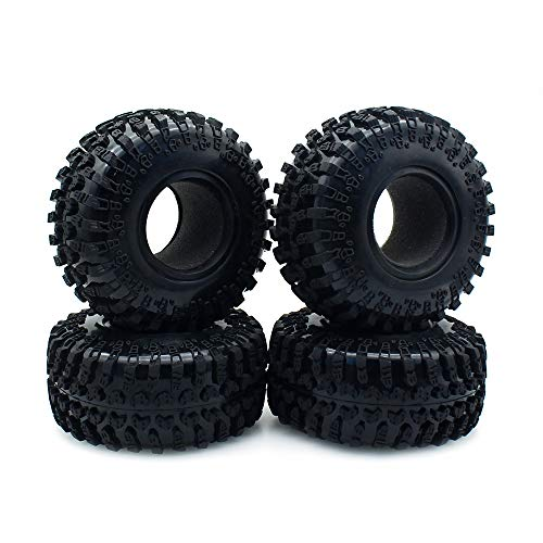 INJORA RC Tires 2.2inch RC Rubber Tyre Set 4pcs for 1/10 RC Crawler Axial SCX10 AX10 Wraith D90