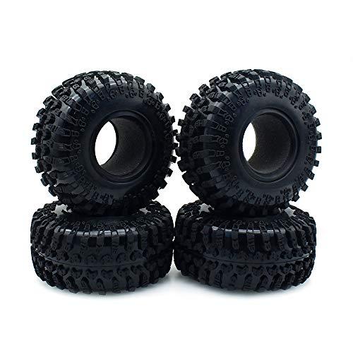 INJORA 4 Stücke 2,2 RC Crawler Reifen, Wheel Tires Reifen Set für 1:10 RC Rock Crawler Axial SCX10 AX10 Wraith D90