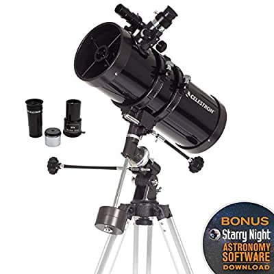 Celestron - PowerSeeker 127EQ Telescope - Manual German Equatorial Telescope for Beginners - Compact and Portable - BONUS Astronomy Software Package - 127mm Aperture from Celestron
