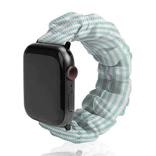 Banda de reloj con textura de tela de poliéster para Apple Watch, adecuada para mujeres y parejas masculinas, bandas elásticas compatibles con SE 6, 5, 4, 3, 2, 1, 38mm/40mm,